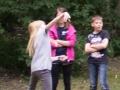 Wurf Action bei den Micro Cachern