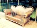 Sofa mit Mops