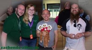 Die3koepfigenAffen mit Bernhard Hoecker und Justin vom HQ Seattle