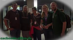 Von links: Benny, Lackey Justin, Sandra, Jenny und Christian